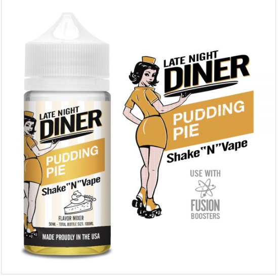 Late Night Diner Pudding Pie 50ml 0mg