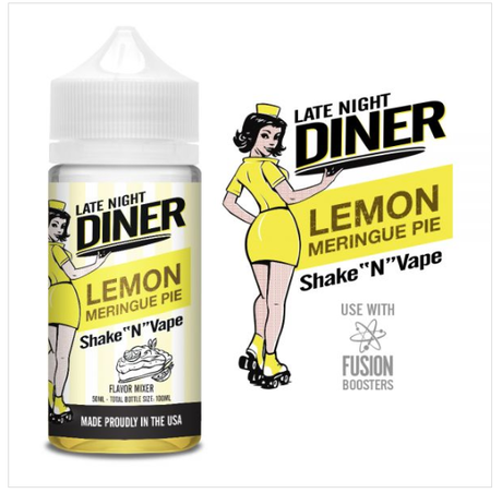 Late Night Diner Lemon Meringue Pie 50ml 0mg