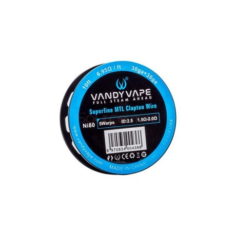 Vandy Vape Superfine MTL Fused Clapton Vape Wires Ni80 30GA*2+38GA