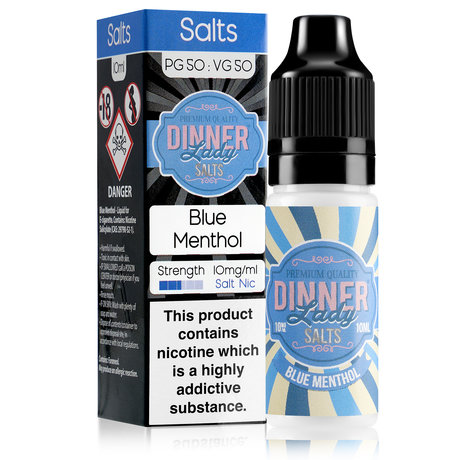 Dinner Lady NICOTINE SALT Blue Menthol 20mg/10ml