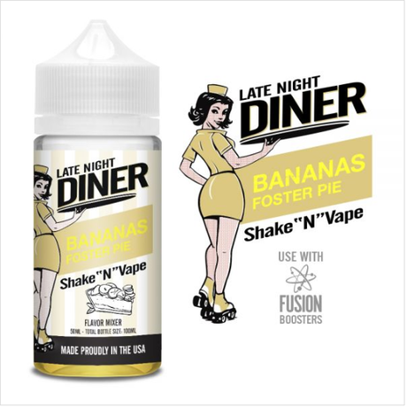 Late Night Diner Bananas Foster 50ml 0mg